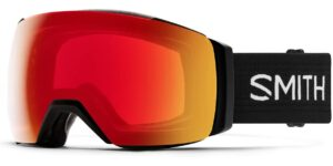 Smith I/O MAG XL Black/Sun Red Mirror Goggles 2020